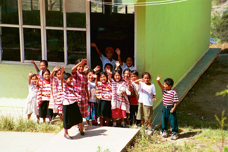 Children with traditonal and Western clothing